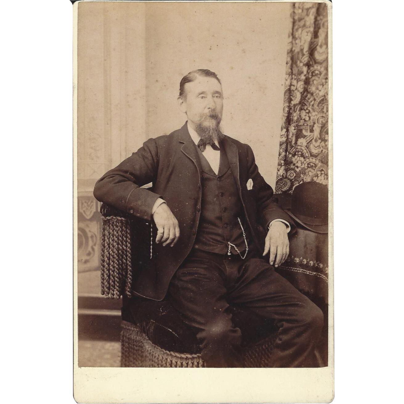 Cabinet Photograph Card, Distinguished Gentleman CA 1894
