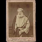 Photograph Card PASSIONSPIEL OBERAMMERGAU 1880 PETRUS