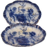 Lovely Flow Blue Oval Bowl, FOLEY, Barker & Kent, Ltd.