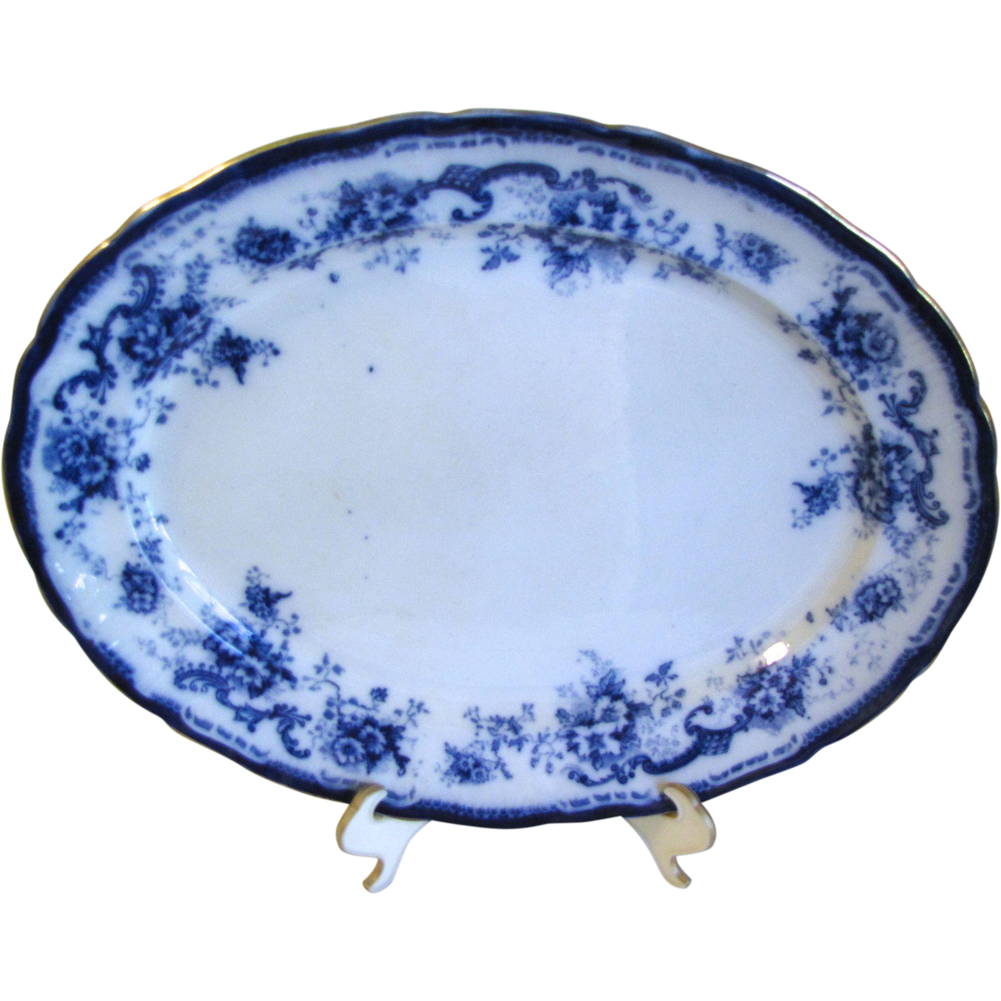 Lovely Large Flow Blue Platter ELSIE Hulme & Christie 1893-1902
