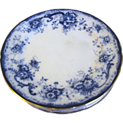 Lovely Flow Blue Salad (Dessert) Plates (7) ELSIE Hulme & Christie