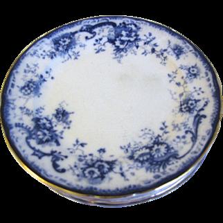 Lovely Flow Blue Salad (Dessert) Plates (7) ELSIE Hulme & Christie