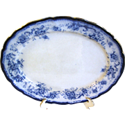 Lovely Flow Blue Platter Hulme & Christie ELSIE 1893-1902