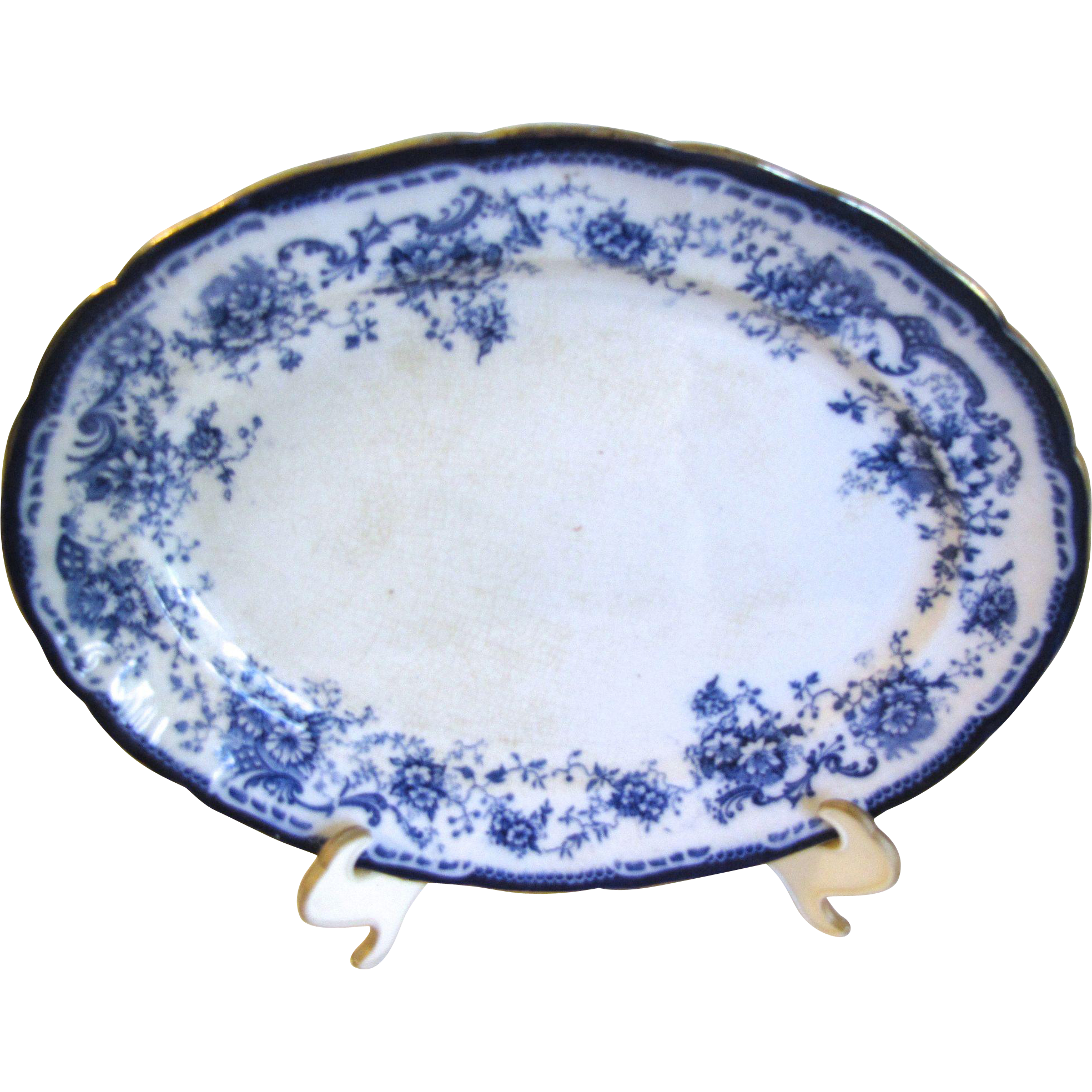 Small Flow Blue Platter Hulme & Christie ELSIE 1893-1902