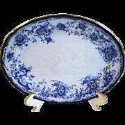 Small Flow Blue Platter ELSIE Hulme & Christie Staffordshire Pottery