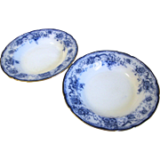Lovely Pair of Flow Blue Soup Plates ELSIE Hulme & Christie