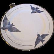 "Vintage 1920""s Child's Warming Dish, BlueBird, Not Marked"