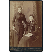 Extraordinary Dresses on These Two Sisters - Cabinet Photograph