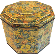 Vintage British Biscuit Tin, Huntley & Palmers, Floral Chintz Design