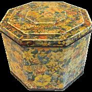 Vintage British Biscuit Tin, Huntley & Palmers, Floral Chintz Design