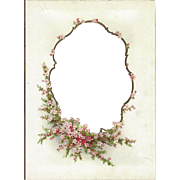 Lovely Die-Cut Floral Chromolithograph Page from Victorian Album