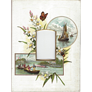 Lovely Colored Page from Victorian Photograph Album