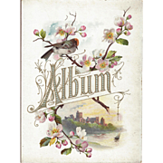 Lovely Title Page from Victorian Photograph Album