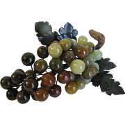 Large Cluster of Italian Alabaster Grapes, Multicolored