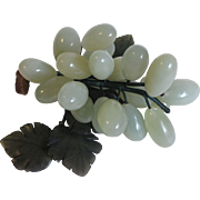 Vintage Italian Alabaster(stone) Bunch of Green Grapes