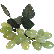 Vintage Italian Alabaster Bunch of Green Grapes