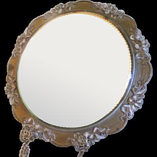 Art Nouveau Quadruple Plate Platform Mirror