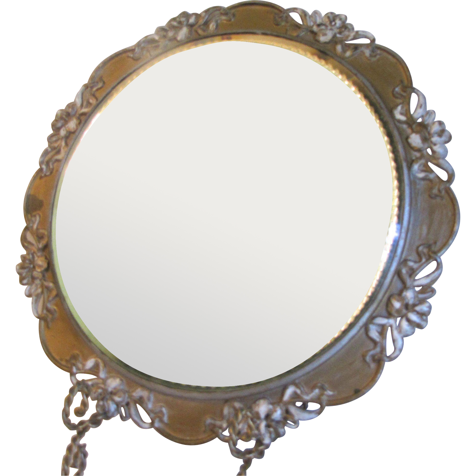 Art Nouveau Quadruple Plate Platform Mirror