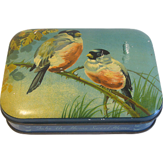 Lovely Colors and Subject, BlueBird Toffee Tin, Blue Birds