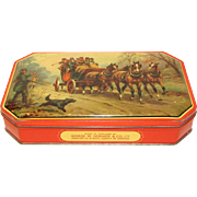 Vintage George Horner Toffee Tin, Stage Coach