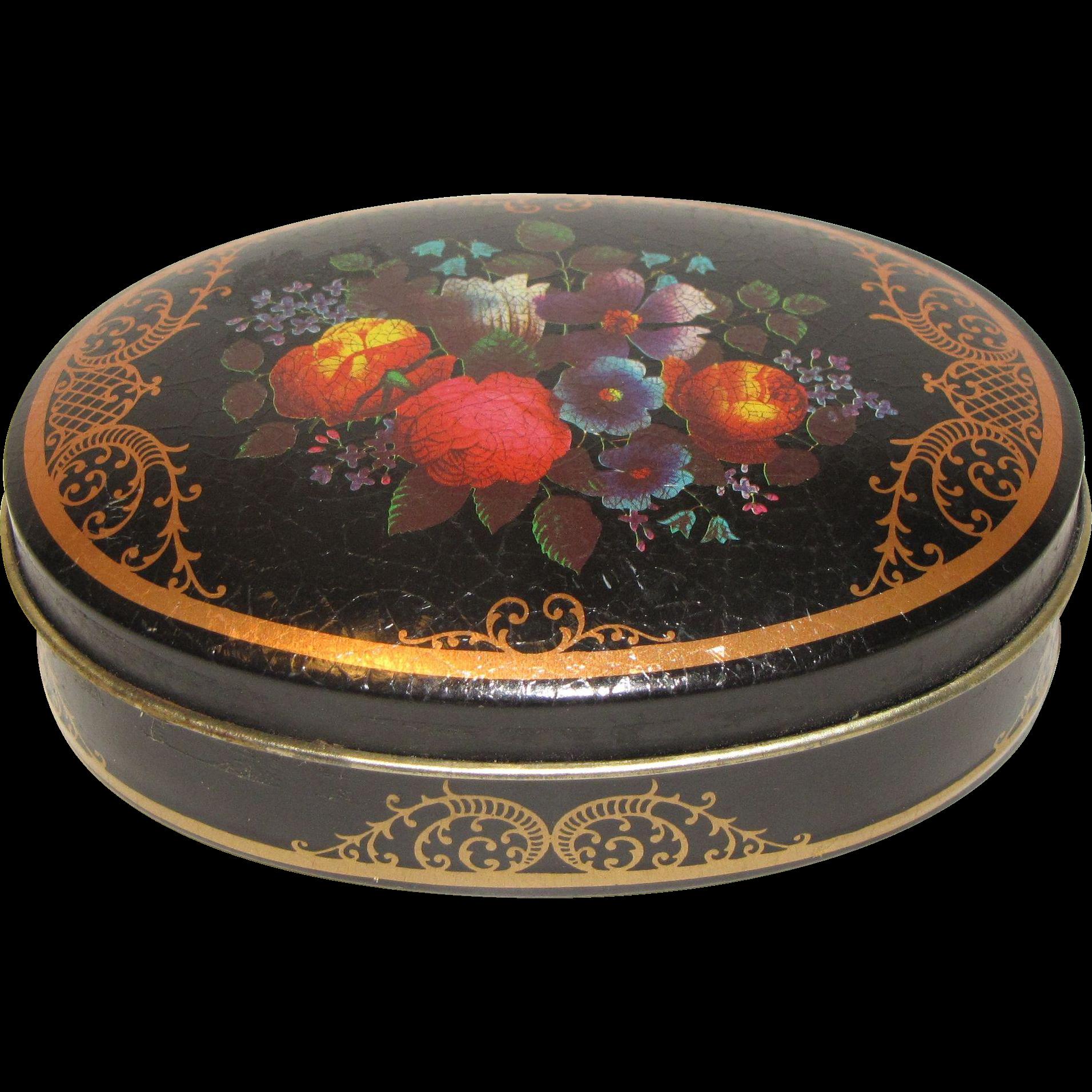 Very Small Vintage Toffee Tin, FARRAH'S Original Harrogate Toffee