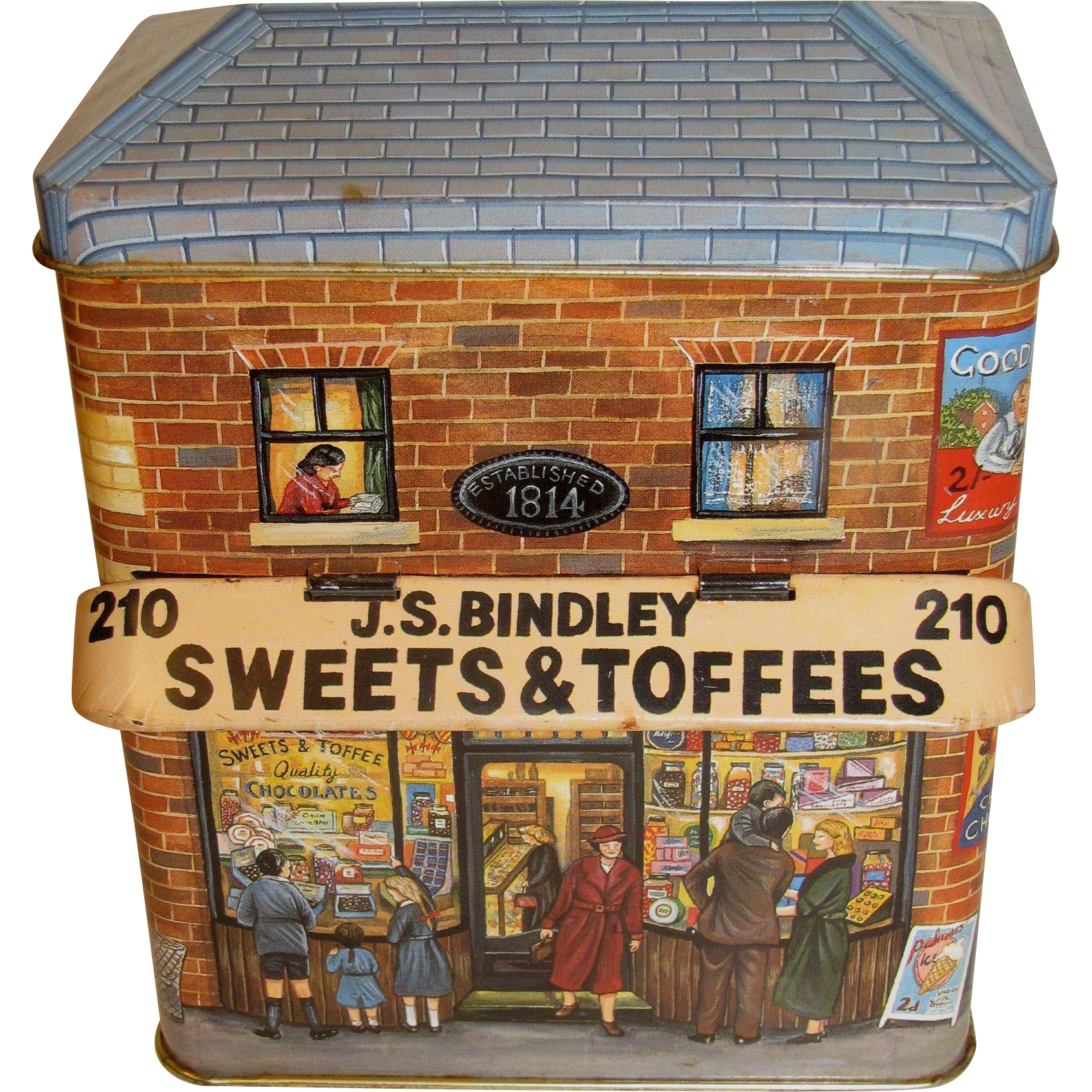 Collectible Tin Silver Crane Company.  Canopy Series THE SWEET SHOP