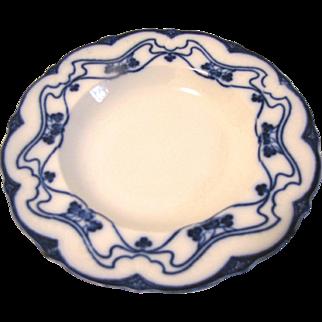 Lovely Flow Blue Soup Plate/Bowl PARIS New Wharf Pottery
