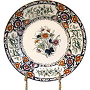 Lovely Printed Plate, Imari Colors. BIRMAH, Ridgways ca 1912 2 Avail