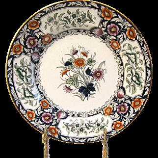 Lovely Printed Plate, Imari Colors. BIRMAH, Ridgways ca 1912 2 Avail