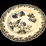 Lovely Mulberry Soup Plate/Bowl VINE BORDER J.&M.P.Bell & Co