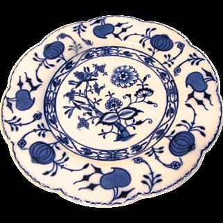 Lovely Flow Blue Plate HOLLAND Johnson Bros. Ca 1891