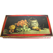 Colorful English Biscuit Tin, Still Life Lithograph