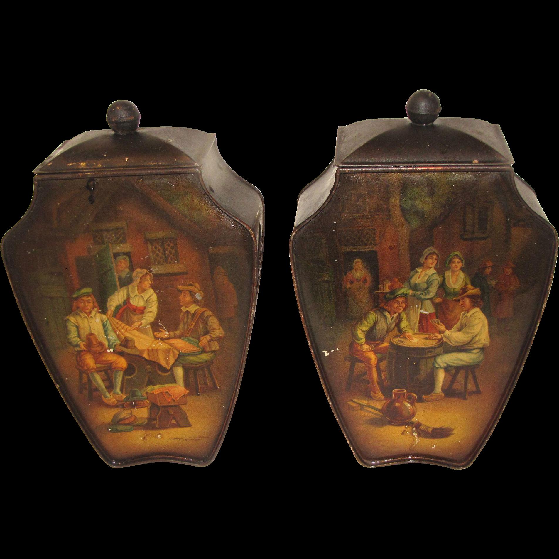 Tinnen kraantjeskan, ca. 1820 in 2019 - Tin, Antiek …