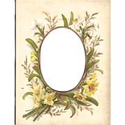 Floral Page from Victorian Photo Album, Daffodils