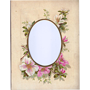 Floral Page from Victorian Photo Album, Pink Azaleas