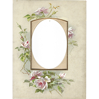 Lovely Floral Page from Victorian Photograph Album