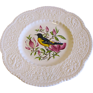"Lovely 9"" Royal Cauldon Bird Plate, BALTIMORE ORIOLE"
