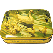 Vintage Bluebird Toffee Tin with Swans.