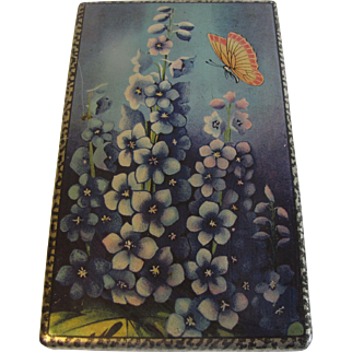 Lovely 1920's Sample Biscuit Tin Box C.W.S. HOLLYHOCK
