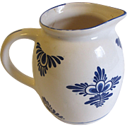 Great Pottery Milk Pitcher for a Blue & White Kitchen