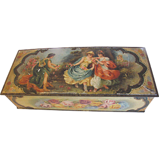 Early Canadian Biscuit Tin, CHRISTIE'S, Romantic Scenes and Roses