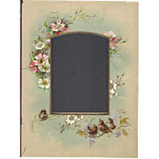 Lovely Floral Page (Mat) from Victorian Photograph Album, Birds