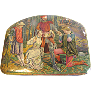 Vintage 1930's British Biscuit Tin Huntley & Palmers GENTLEMEN OF VERONA