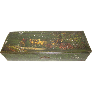 1913 & 1914 Huntley & Palmers Biscuit Tin, GLOVEBOX, Stagecoach