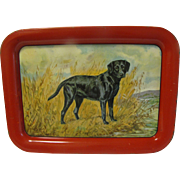 1940 Ole Larsen Metal Serving Tray, Labrador Retriever