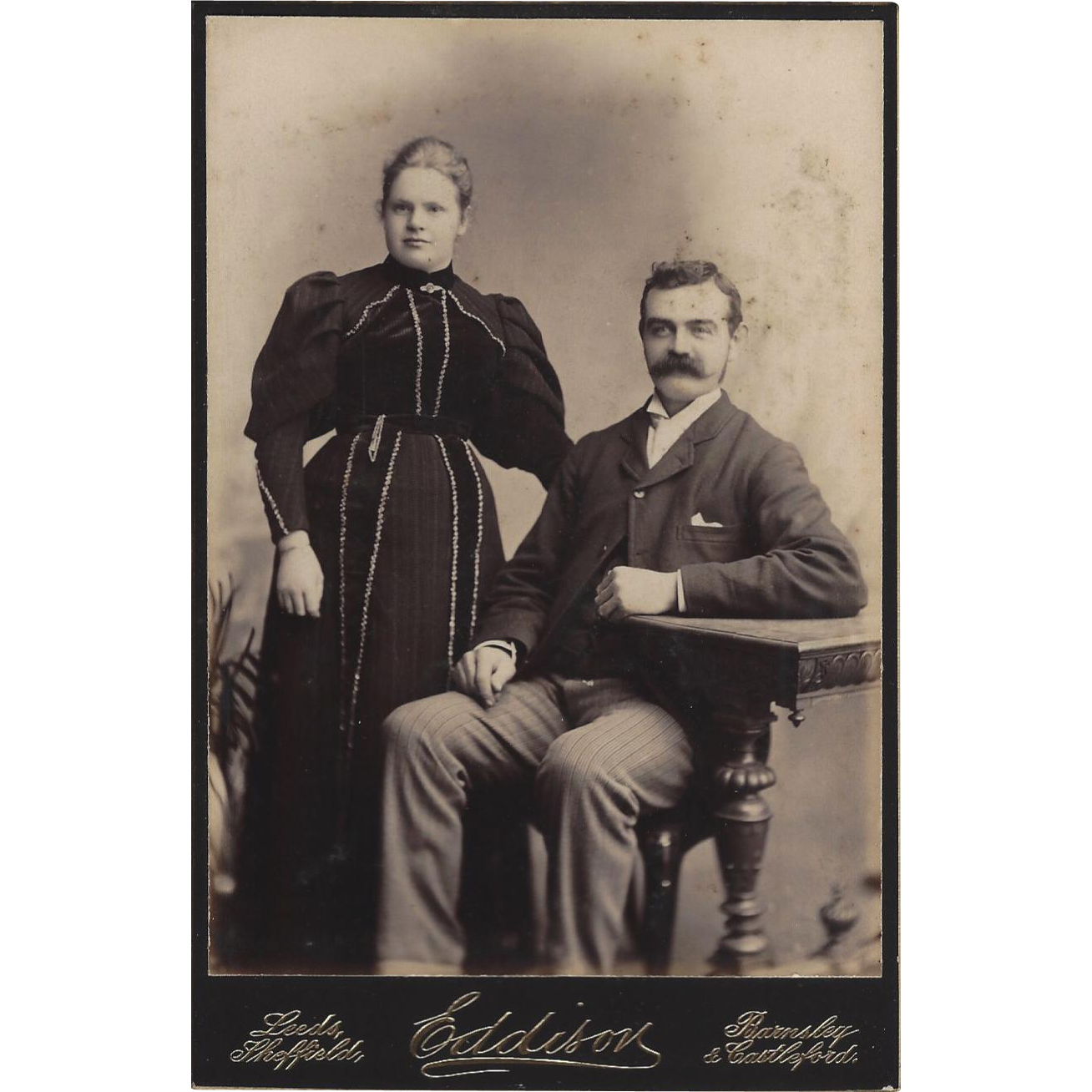 Victorian Cabinet Photograph Card Young Couple