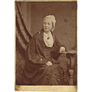Victorian Cabinet Card Photograph of Older Lady