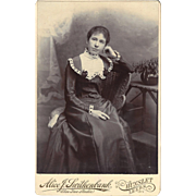 Victorian Cabinet Photograph Card, Young Woman