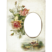 Lovely Colorful Floral Page from Victorian Photo Album
