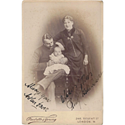 Cabinet Photograph Card, Family of 3